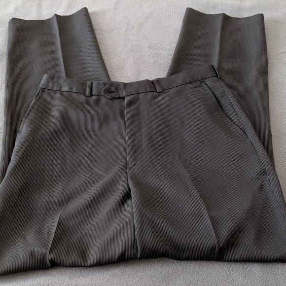 Alfani Mens Pinstriped Dress Pant Slacks
